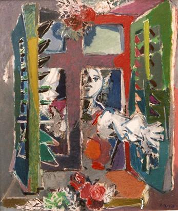 Frau am Fenster, 1987
